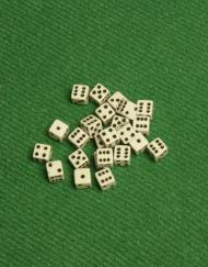 6 Vlakken Dobbelsteen Wit met Zwarte Stippen 5mm