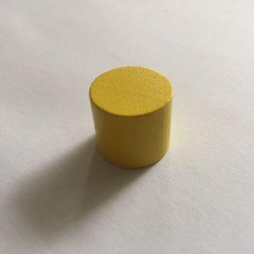Houten Pion Geel 16mm per stuk (Speelstuk / Tokkens)