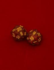 20 Vlakken Dobbelsteen Gemêleerd Rood met Geel 16mm