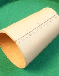 Dobbelbeker | Pokerbeker Leer 10cm