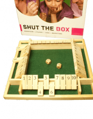 Shut the Box Dobbelspel 4 personen 29x29x4cm