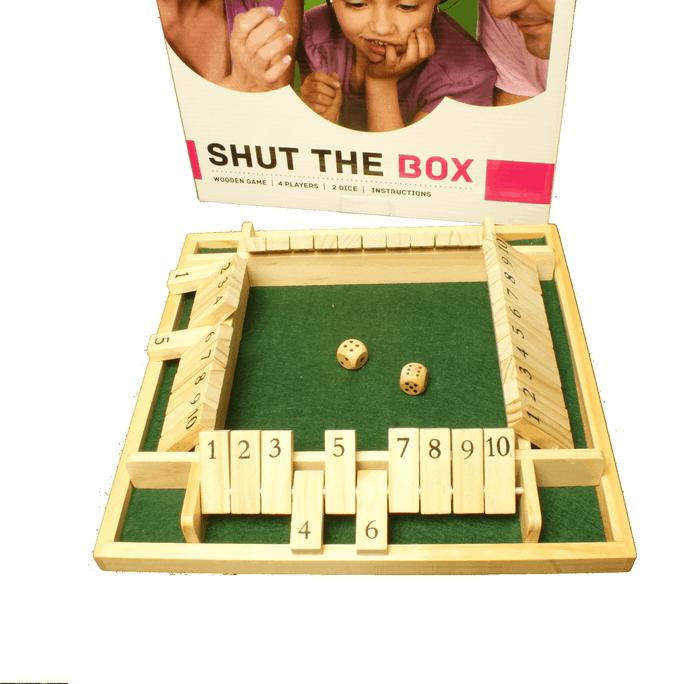 Shut the Box Dobbelspel 4 personen 29x29x4cm