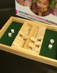 Shut the Box Dobbelspel 2 spelers 34x23x4cm