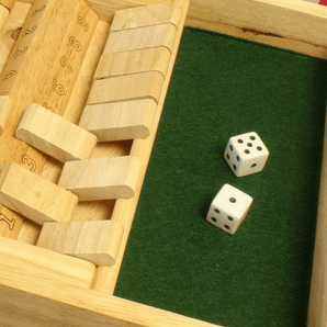 Shut the Box Dobbelspel 2 spelers 34x23x4cm kopen