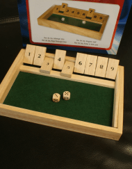 Shut the Box Dobbelspel 28x20x3cm