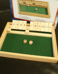 Shut the Box Dobbelspel 31x23x3cm