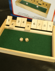 Shut the Box Dobbelspel 34x24x3cm