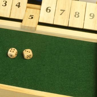 Shut the Box Dobbelspel 34x24x3cm kopen