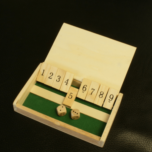 Shut the Box Dobbelspel Reiseditie 13x8x2cm