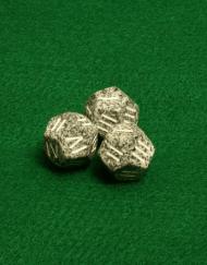 12 Vlakken Dobbelsteen Grijs met Romeinse Cijfers I - IV 16mm