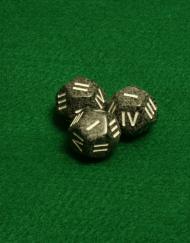 12 Vlakken Dobbelsteen Zwart met Romeinse Cijfers I - IV 16mm