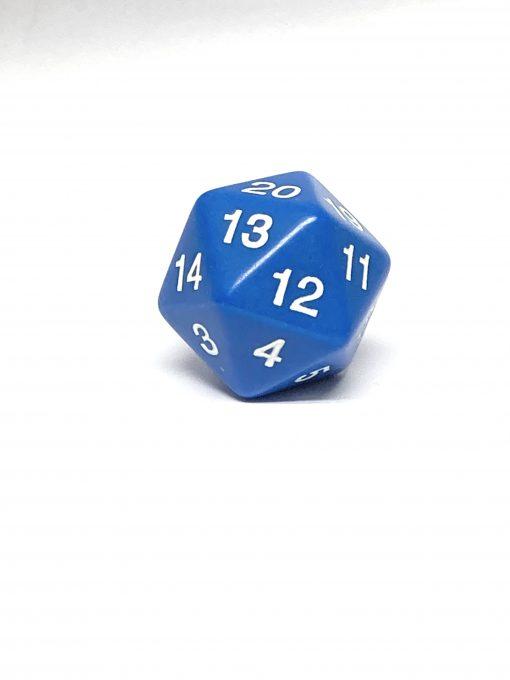 20 Vlakken Dobbelsteen Blauw Spindown 30mm