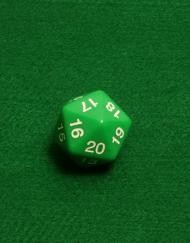 20 Vlakken Dobbelsteen Groen Spindown 30mm