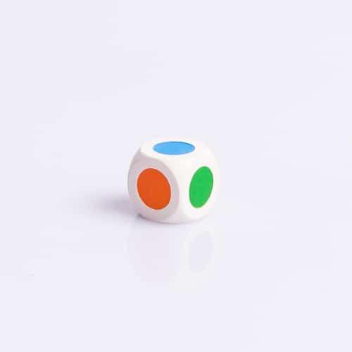 6 Vlakkendobbelsteen Kleurendobbelsteen 16mm