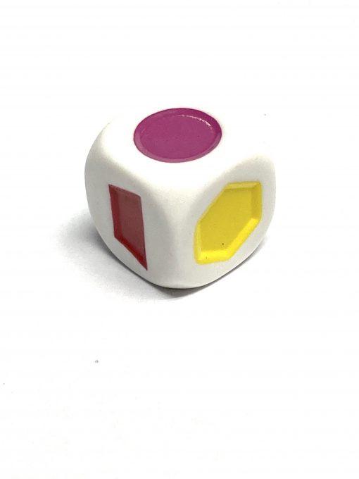 6 Vlakkendobbelsteen Vormen Kleurendobbelsteen 22mm Pre-school