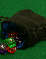Dobbelstenenzakje Dice Bag Blauw Small