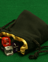 Dobbelstenenzakje Dice Bag Gold Small kopen
