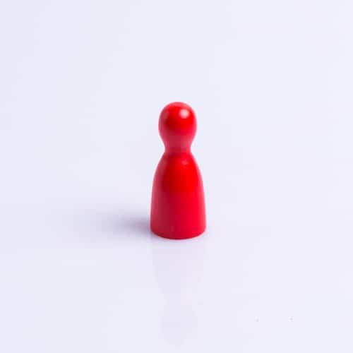 Houten Pion Rood40mm waar te koop