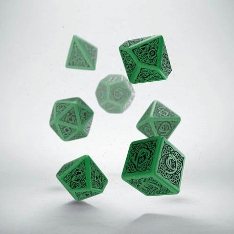 Polydice 7 Green & Black Celtic Q-Workshop