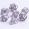 Polydice 7 Dobbelstenenset Frosted Smoke White D&D dice dungeons and dragons RPG