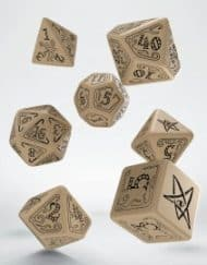 Polydice Set Q-Workshop Call of Cthulhu Beige & Black