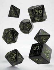 Polydice Set Q-Workshop Call of Cthulhu Black & Glow-in-the-Dark