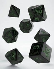 Polydice Set Q-Workshop Call of Cthulhu Black & Green