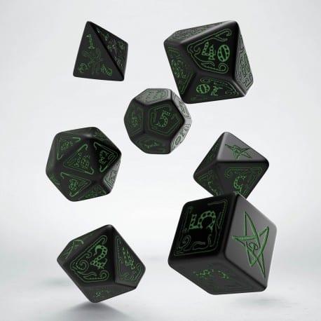 Polydice Set Q-Workshop Call of Cthulhu Black & Green