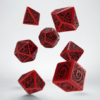 Polydice Set Q-Workshop Celtic Red & Black