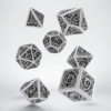 Polydice Set Q-Workshop Celtic White & Black