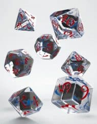 Polydice Set Q-Workshop Classic Translucent & Blue Red