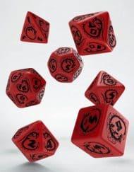 Polydice Set Q-Workshop Dragons Red & Black