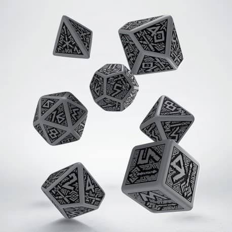 Polydice Set Q-Workshop Dwarven Gray & Black