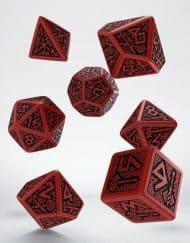Polydice Set Q-Workshop Dwarven Red & Black