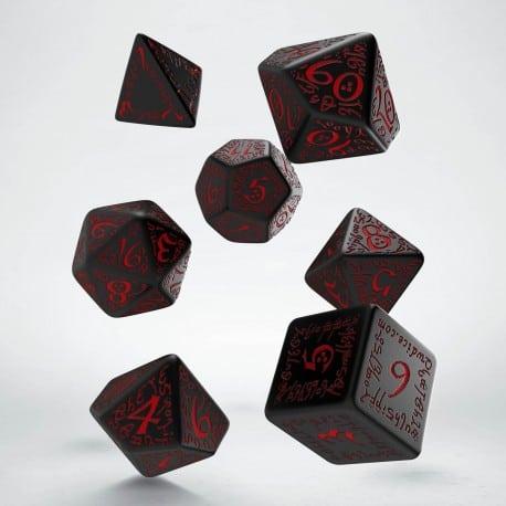 Polydice Set Q-Workshop Elvish Black & Red