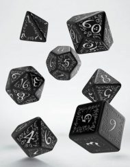 Polydice Set Q-Workshop Elvish Black & White