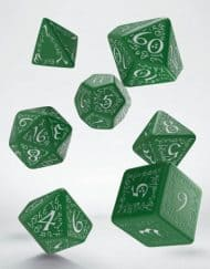 Polydice Set Q-Workshop Elvish Green & White