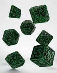 Polydice Set Q-Workshop Forest Green & Black
