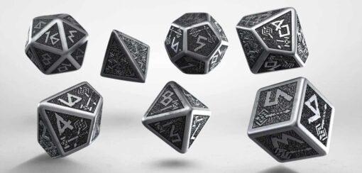 Polydice Set Q-Workshop Metal Dwarven Dice