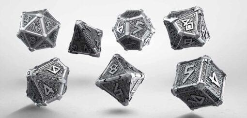 Polydice Set Q-Workshop Metal Mythical Dice