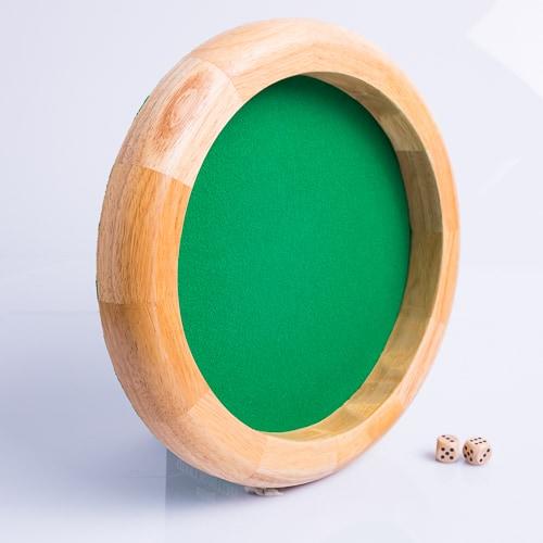 Dobbelpiste Dobbelbak Blank Hout Groen Vilt 30cm kopen