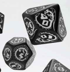 Polydice Set Q-Workshop Dragons Black & White