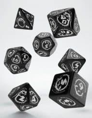 Polydice Set Q-Workshop Dragons Black & White
