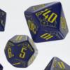 Polydice Set Q-Workshop Galactic Navy & Yellow