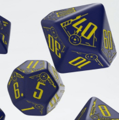 Polydice Set Q-Workshop Galactic Navy & Yellow