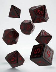 Polydice Set Q-Workshop Runic Black & Red
