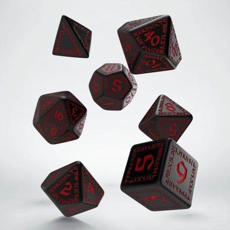Polydice Set Q-Workshop Runic Black & Red