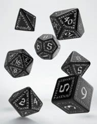 Polydice Set Q-Workshop Runic Black & White
