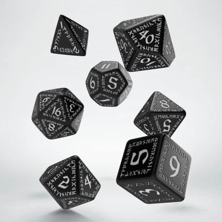 Polydice Set Q-Workshop Runic Black & White