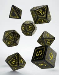 Polydice Set Q-Workshop Runic Black & Yellow